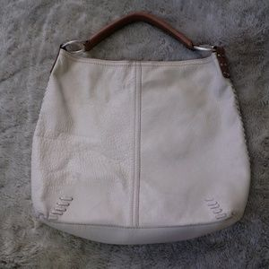 Lucky Brand Slouchy Off White Leather Hobo Bag
